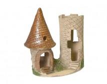 Декорация керамическая ТМ Природа Башня мини двойная 13х17