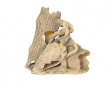 Декорация керамическая ТМ Природа Два бревна с амфорой 23х23