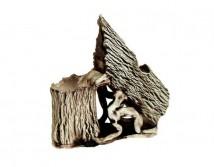 Декорация керамическая ТМ Природа Разбитое дерево мини 15х15