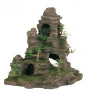 Декорация Trixie Скала с пещерами и растениями 31х17х26см.