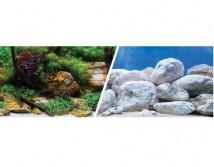 Фон двусторонний Hagen, высота 30 см (цена за 10 см)  аквасад и светлые камни