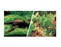 Фон двусторонний Hagen, высота 45 см (цена за 10 см)  коряга  с растениями