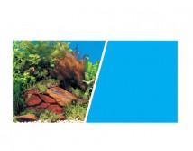 Фон двусторонний Hagen, высота 45 см (цена за 10 см)  растения с камнями и голубой фон