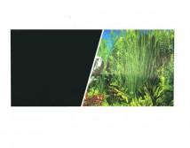 Фон двусторонний Hagen, высота 45 см (цена за 10 см)  черный фон и зеленые растения
