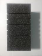 Губка фильтрационная среднепористая рифленая 10х10х20см, ТМ Природа