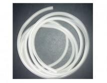 Шланг силиконовый белый Soft Tubing 4-6мм, (цена за 1м)