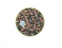 Грунт Nechay ZOO  черно-розовый мелкий 2-5мм, базальт и кварцит 10 кг.