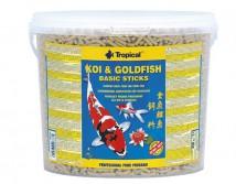 Корм Tropical Koi & Gold Basic Sticks 5л /600гр основной корм