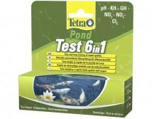 Tetra Pond Test Set  6 in1 (25шт) набор тестов для определения показателей качества воды
