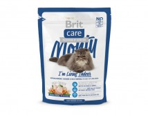 Сухой корм Brit Care Cat 0,4 кг Monty I am Living Indoor для кошек живущих в помещении