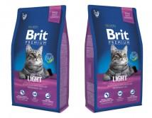 Сухой корм Brit Premium Cat Light 8 кг для кошек c избыточным весом