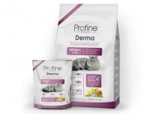 Сухой корм Profine Cat Derma 15 кг лосось, для длинношерстных кошек