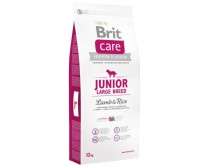 Сухой корм Brit Care Junior Large Breed с ягненком и рисом для щенков крупных и гигантских пород 12 кг
