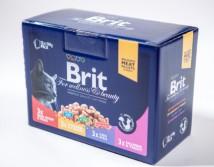 Консервы Brit Premium Cat pouch 1200 г семейная тарелка ассорти 4 вкуса