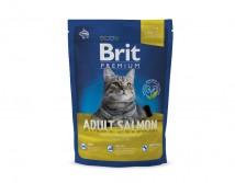 Сухой корм Brit Premium Cat Adult Salmon 1,5кг для взрослых с лососем