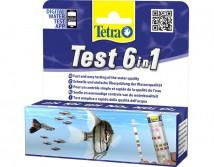Экспресс-тест Tetra Test 6 in1 набор из 25 тест полосок для пресноводного аквариума.