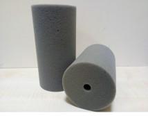 Губка фильтрационная серая крупнопористая цилиндр гладкая 10х20см, Украина