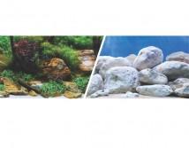 Фон двусторонний Hagen, высота 45 см (цена за 10 см)  светлые камни и аквасад