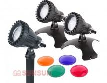 Комплект светильников SunSun CLD-302 для пруда или фонтана 3 шт по 1,2Вт