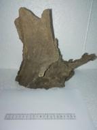 Коряга 009 дуб для аквариума, натуральная и обработанная 30х20х28 см