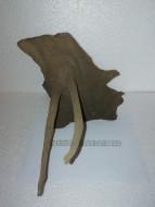 Коряга 025 дуб для аквариума, натуральная и обработанная 23х32х27 см