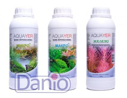 Набор удобрений Aquayer Микро+Макро+Железо 1л