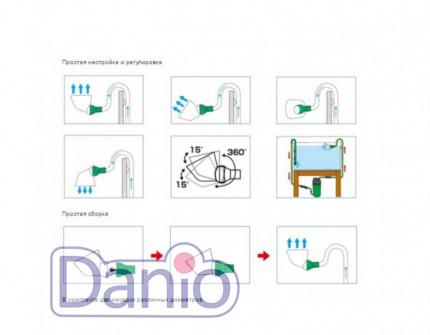 Eheim (Германия) Eheim flowpipe Регулируемая насадка для возврата воды - Картинка 4