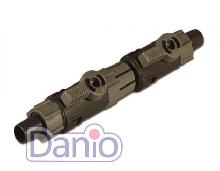 Кран двойной Eheim быстроразъемный под шланг 25/34 мм, с соедени