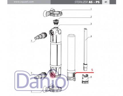 Колба кварцевая под лампу Aquael к стерилизатору Sterilizer AS 9