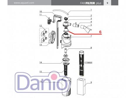 Aquael (Польша) Регулятор потока Aquael для внутреннего фильтра FAN-3 Plus - Картинка 2