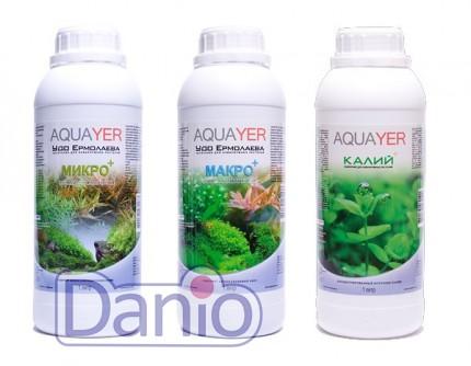 Набор удобрений Aquayer Микро+Макро+Калий 1л