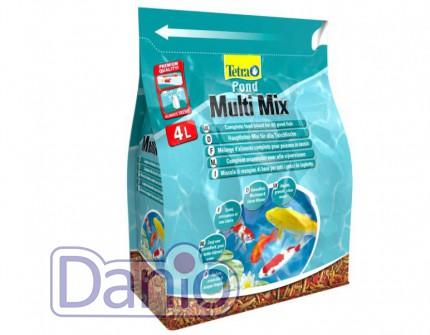 Корм Tetra Pond Multi Mix 4л смесь хлопья, гранулы, таблетки гам