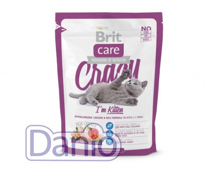 Сухой корм Brit Care Cat 0,4 кг Crazy I am Kitten для котят 1 -