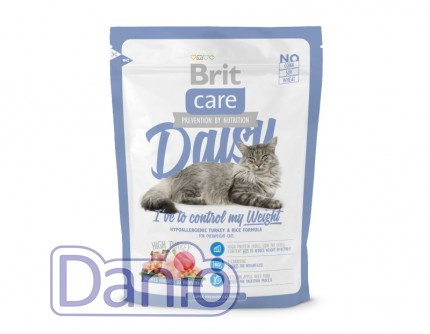 Сухой корм Brit Care Cat 0,4 кг Daisy I have to control my Weigh