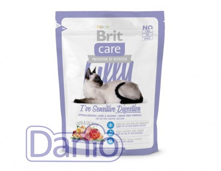 Сухой корм Brit Care Cat 0,4 кг Lilly I have Sensitive Digestion