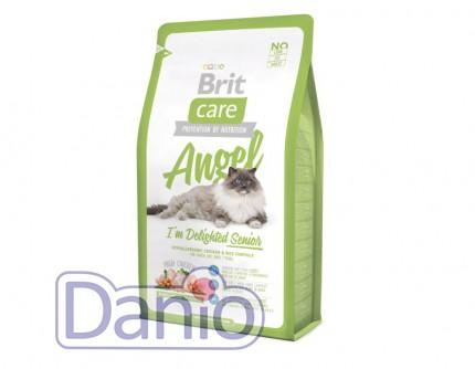 Сухой корм Brit Care Cat 2 кг Angel I am Delighted Senior для по