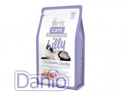 Сухой корм Brit Care Cat 2 кг Lilly I have Sensitive Digestion д
