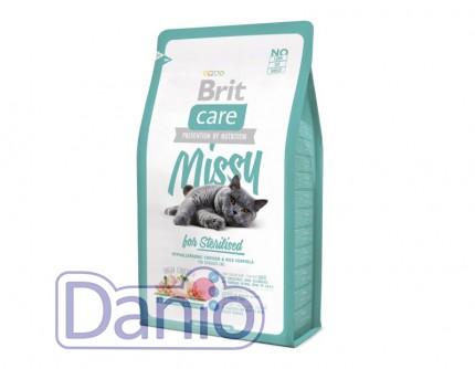 Сухой корм Brit Care Cat 2 кг Missy for Sterilised для стерилизо