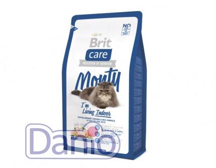 Сухой корм Brit Care Cat 2 кг Monty I am Living Indoor для кошек