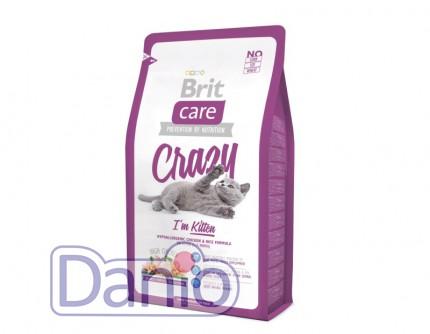 Сухой корм Brit Care Cat 7 кг Crazy I am Kitten для котят 1 - 12