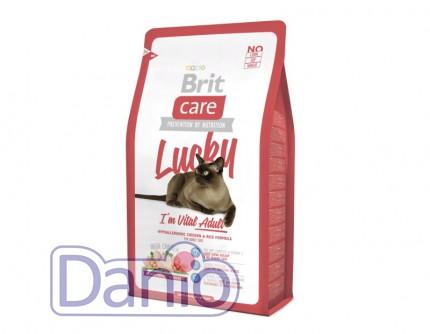 Сухой корм Brit Care Cat 7 кг Lucky I am Vital Adult для взрослы