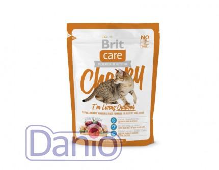 Сухой корм Brit Care Cat 0,4 кг Cheeky I am Living Outdoor для к