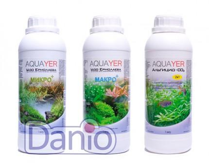 Набор удобрений Aquayer Микро+Макро+Альгицид+СО2 1 л