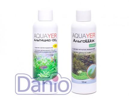 Набор Aquayer Альгицид+СО2+Альгошок 100 мл