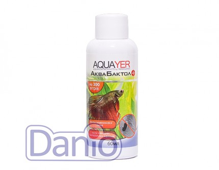 Aquayer АкваБактол 60мл на 300 л против плавниковой гнили