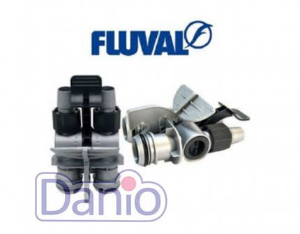 Адаптер под шланги Aqua Stop клапан к фильтрам Hagen Fluval 105,