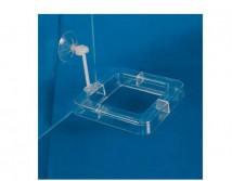 Кормушка Trixie для аквариума квадратная на ножке 7см