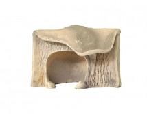 Декорация керамическая ТМ Природа Грот для черепах угловой малый 14х16х13