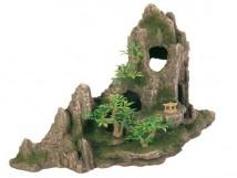 Декорация Trixie Скала с пещерой и растениями 27х13х16,5см.
