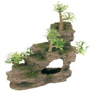 Декорация Trixie Утес с растениями 19х9,5х14см.